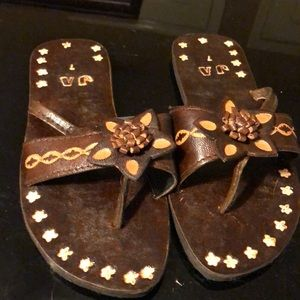 Handmade sandals from Jamaica.  NEW!